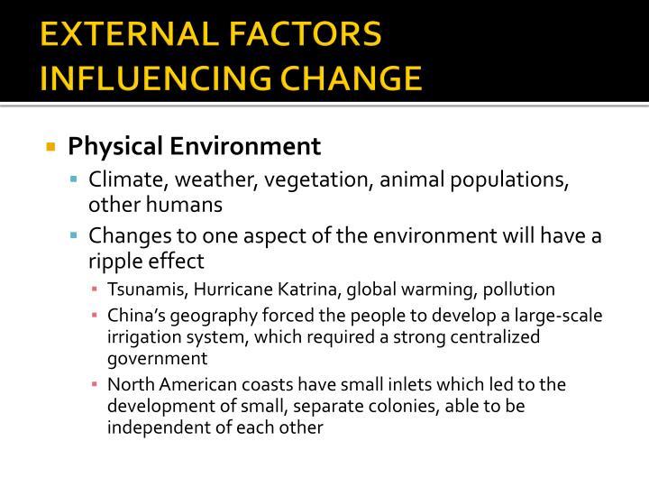 external factors affecting the enviromental factors 1 what are internal & external environmental factors that affect business  3 factors affecting organizational structure  external factors that affect an organization may be political .