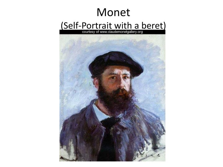 Monet self portrait with a beret