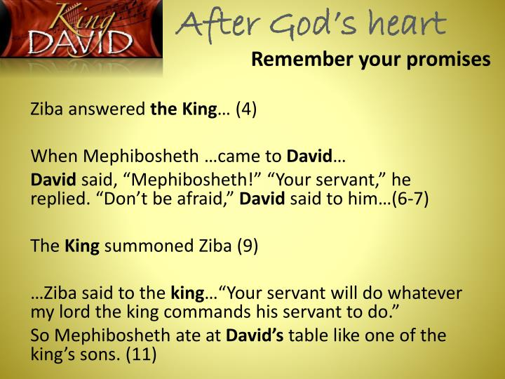 After God's heart