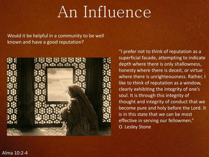 An Influence