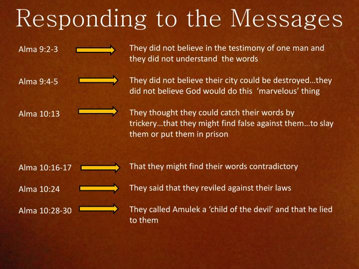 Responding to the Messages