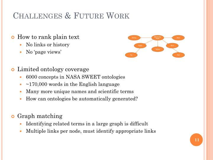 Challenges & Future Work