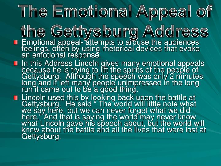 The Emotional Appeal of