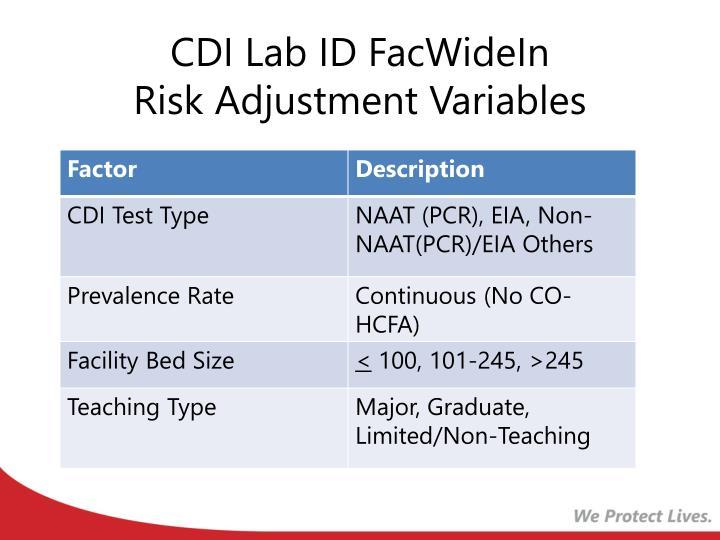 CDI Lab ID FacWideIn