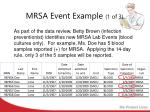 mrsa event example 1 of 3