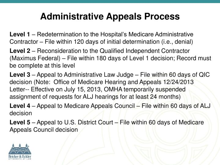 Administrative Appeals Process