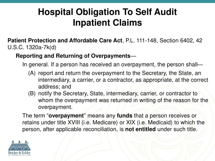 Hospital Obligation To Self Audit
