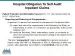 hospital obligation to self audit inpatient claims