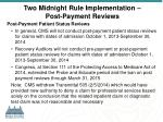two midnight rule implementation post payment reviews