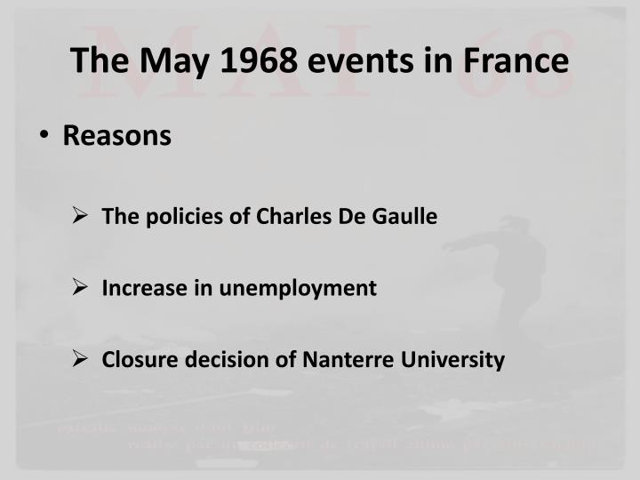 The May 1968 events in France