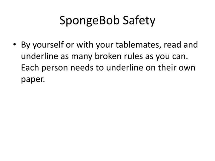 SpongeBob Safety