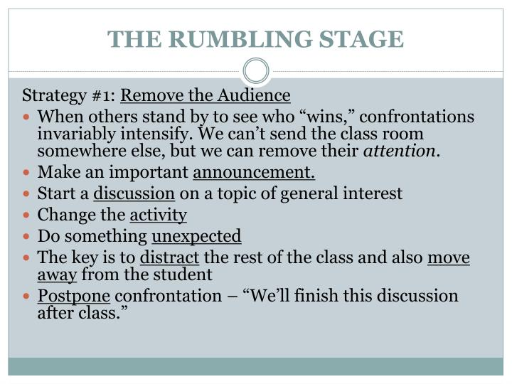 THE RUMBLING STAGE