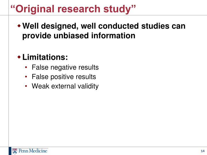 """Original research study"""