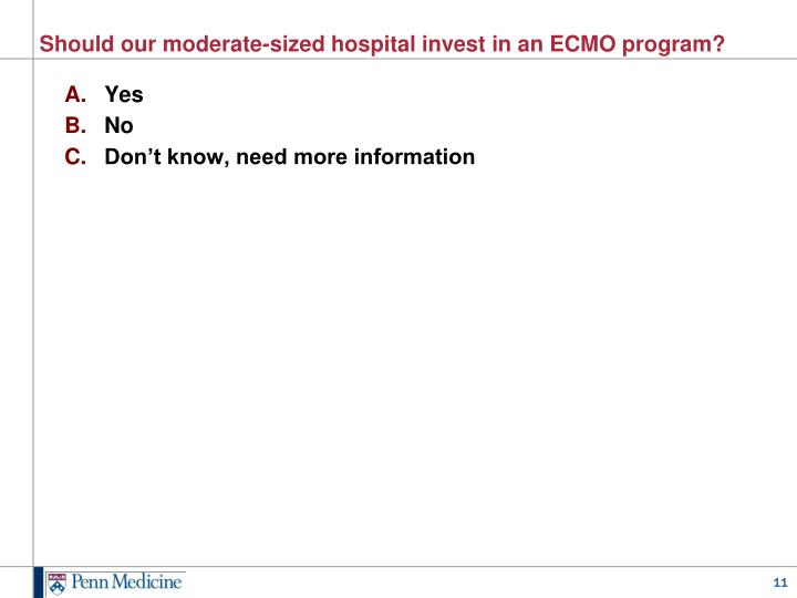 Should our moderate-sized hospital invest in an ECMO program?