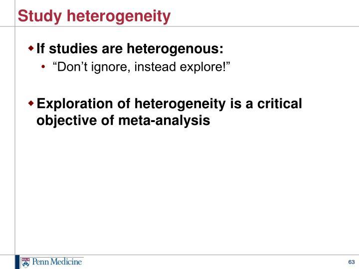 Study heterogeneity