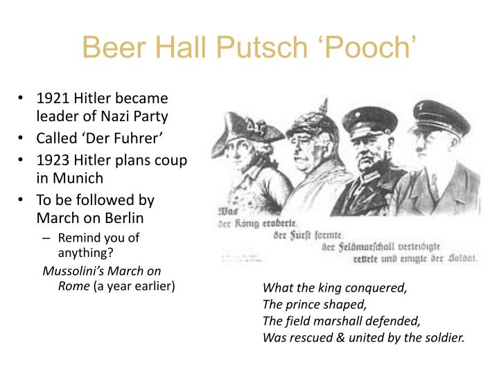 Beer Hall Putsch 'Pooch'