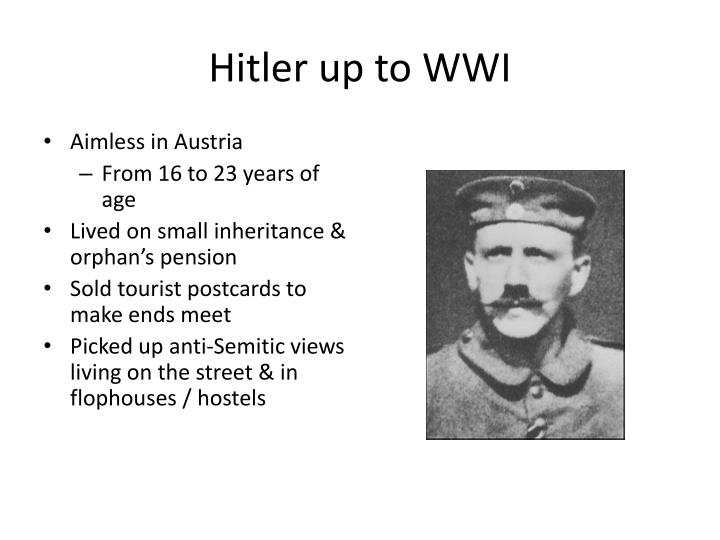 Hitler up to WWI