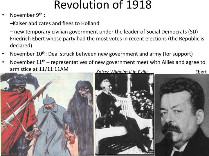 Revolution of 1918