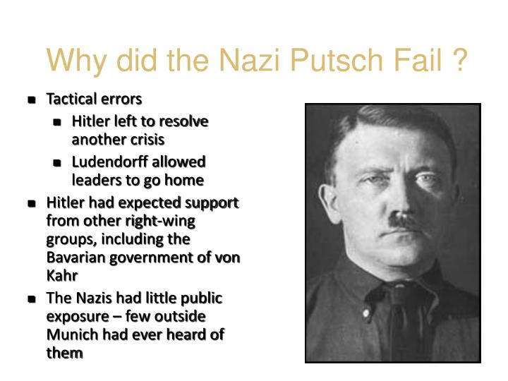 Why did the Nazi Putsch Fail ?