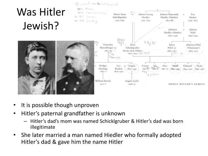 Was Hitler Jewish?