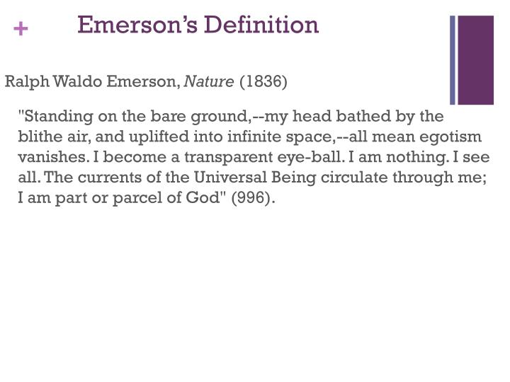 Emerson s definition
