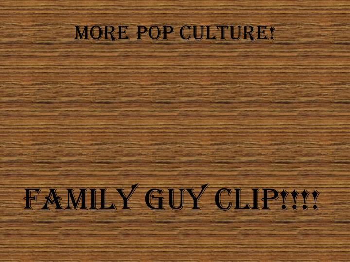 More pop culture!