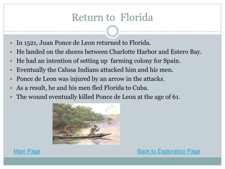 Return to  Florida