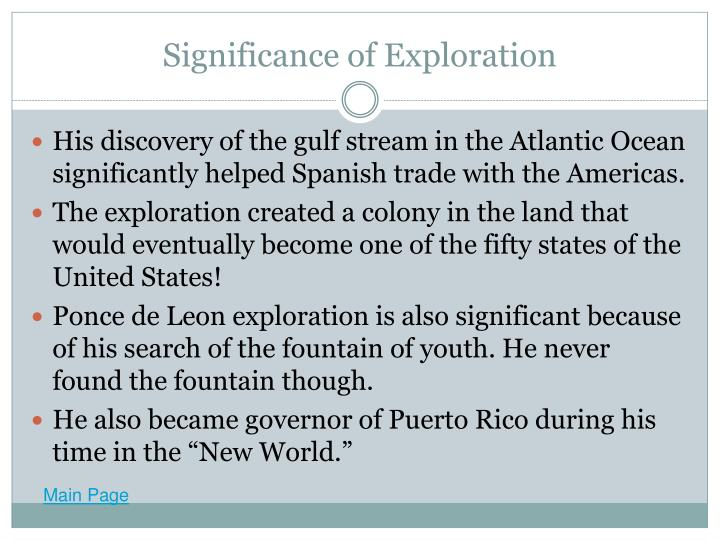 Significance of Exploration