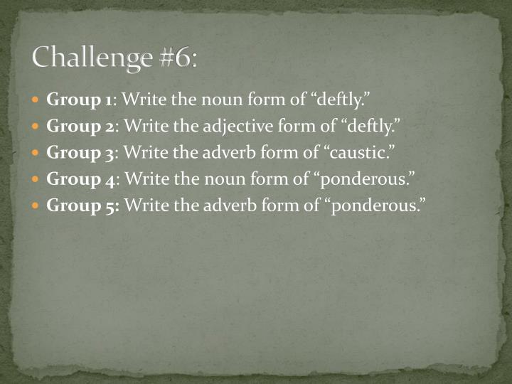 Challenge #6: