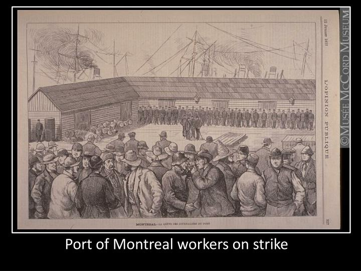 Port of Montreal workers on strike