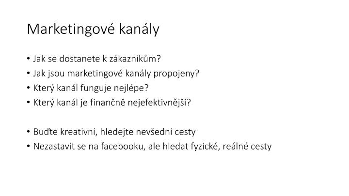 Marketingové kanály
