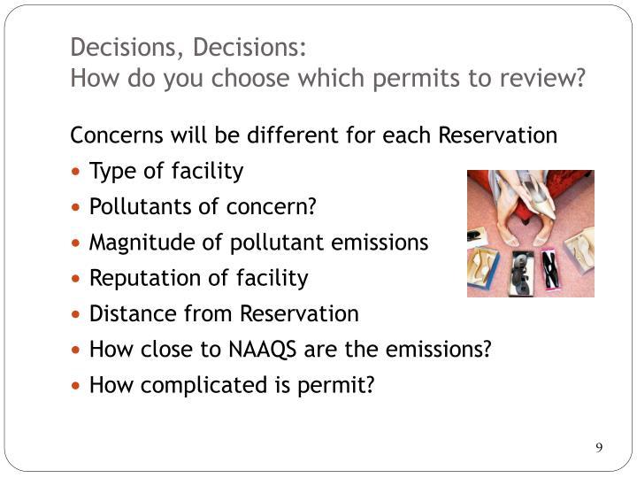 Decisions,