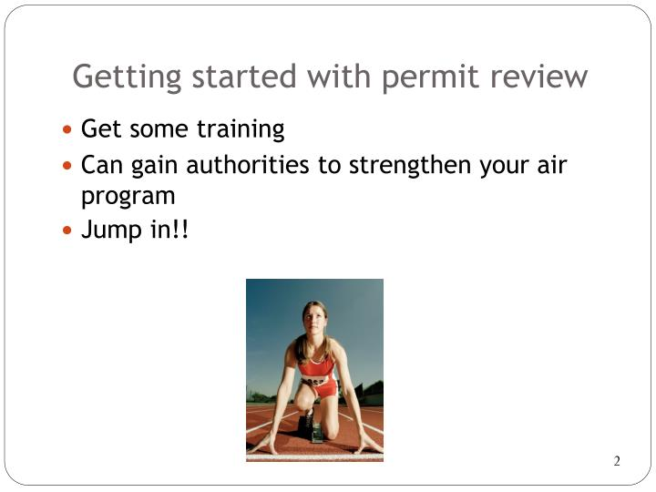 Getting started with permit review