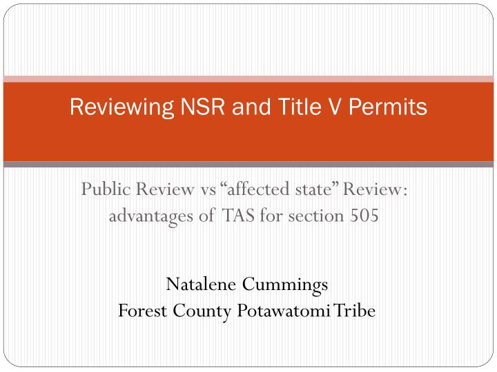 Reviewing nsr and title v permits