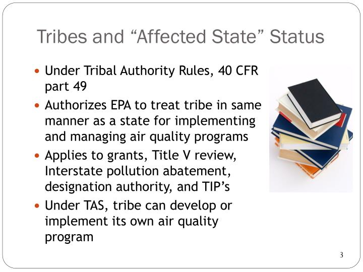 "Tribes and ""Affected State"" Status"