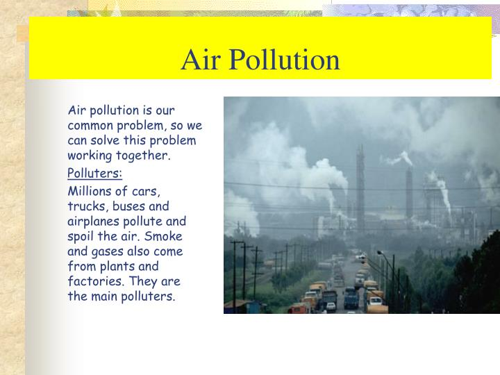 affects of air pollution essay
