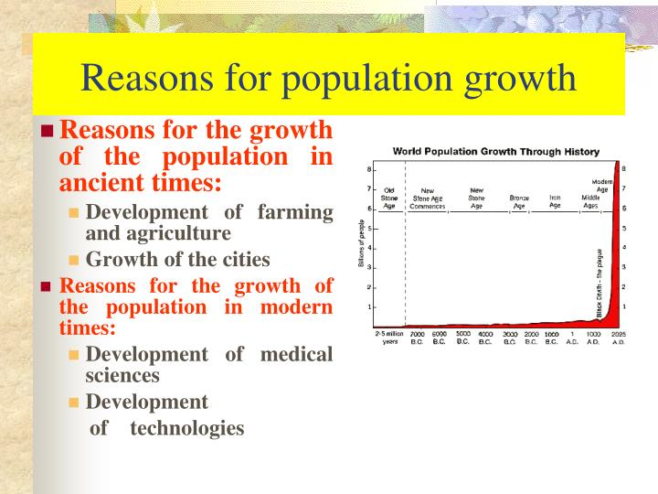 Reasons for population growth