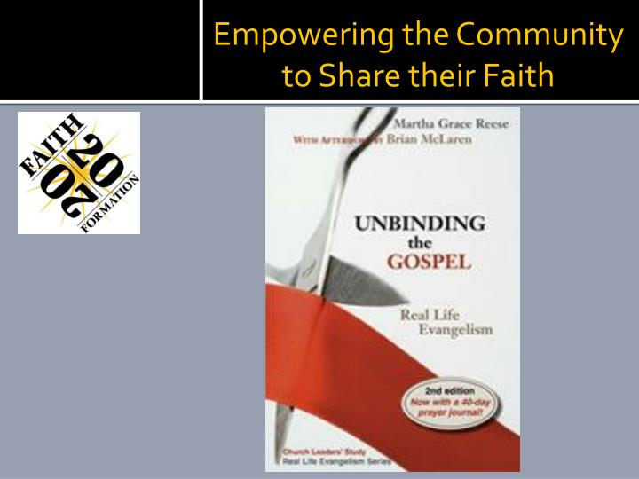 Empowering the Community to Share their