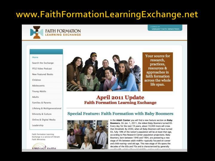 www.FaithFormationLearningExchange.net