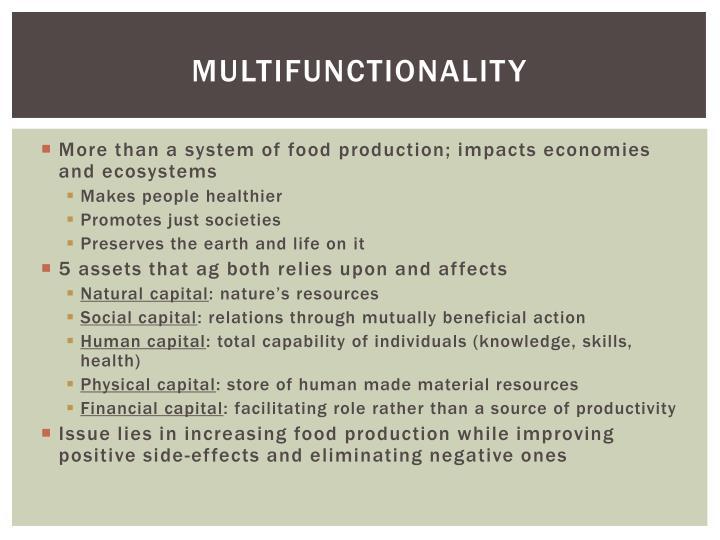 Multifunctionality
