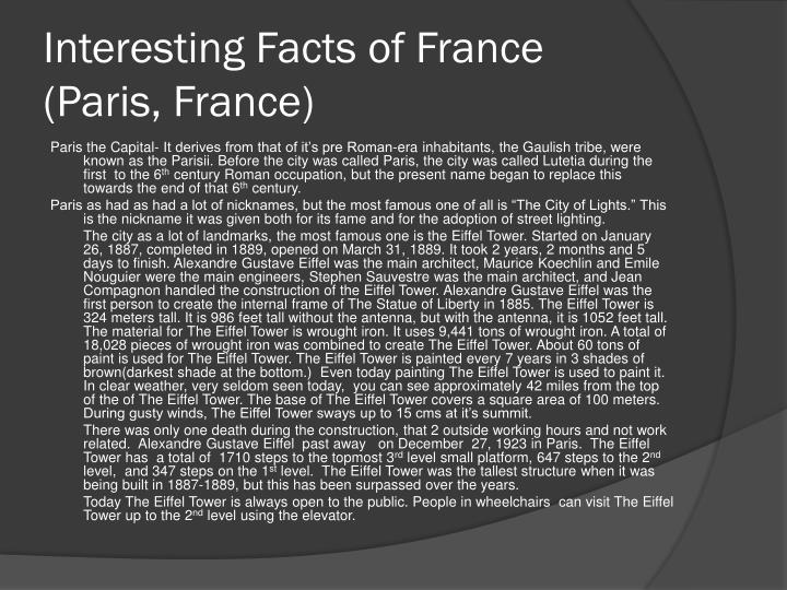 Interesting Facts of France