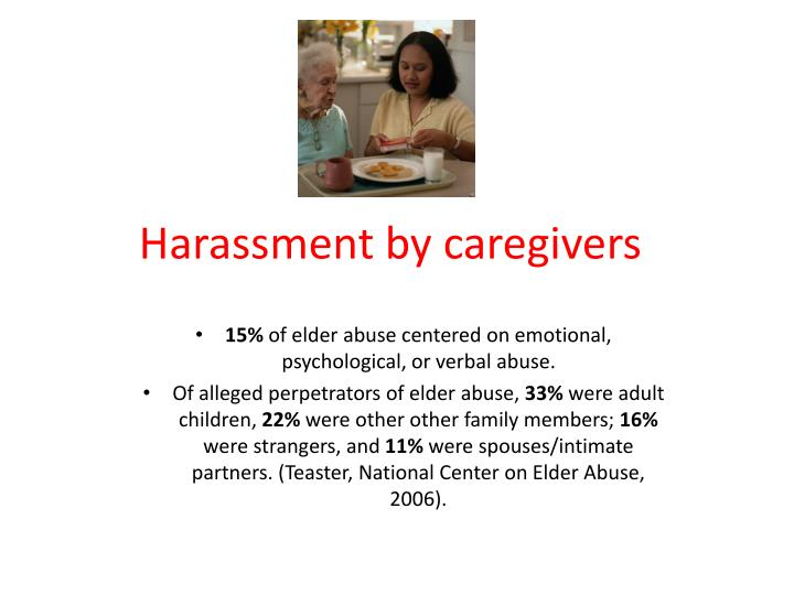 Harassment by caregivers