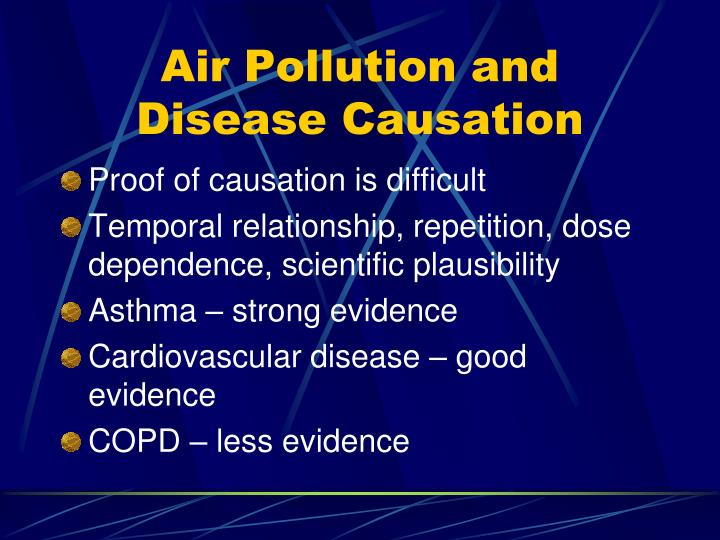 Air Pollution and Disease Causation
