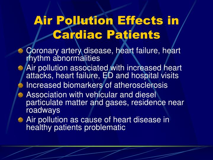 Air Pollution Effects in Cardiac Patients
