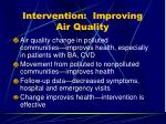 intervention improving air quality
