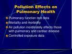pollution effects on pulmonary health