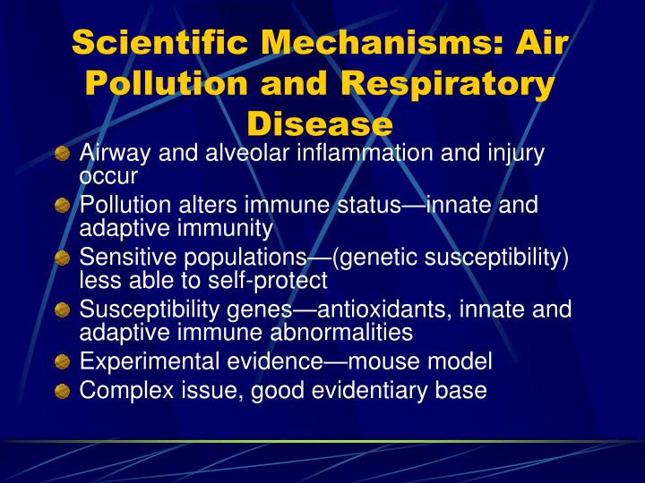 Scientific Mechanisms: Air Pollution and Respiratory Disease