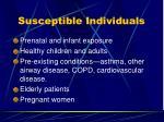 susceptible individuals