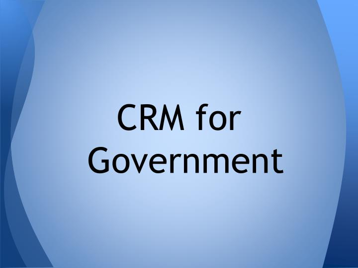 CRM for Government