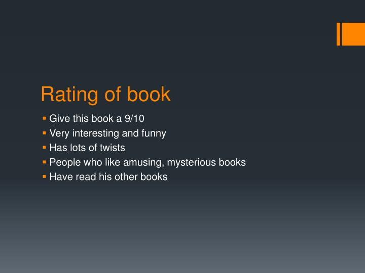 Rating of book